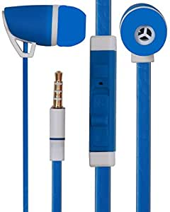 3.5mm Designed In Ear Bud Earphones Headset Handsfree Compatible For Panasonic Eluga U2 -Blue