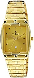 Titan Karishma Analog Gold Dial Mens Watch - NE9153YM03A