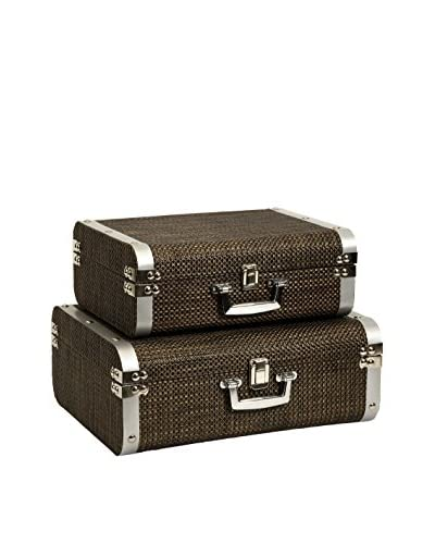Set of 2 Curry Storage Suitcases