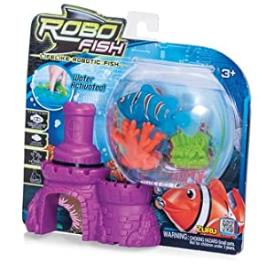 Zuru Robo Fish With Castle And Coral, Assorted
