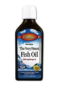 Buy carlson the very finest fish oil liquid omega 3 lemon for Carlson fish oil liquid