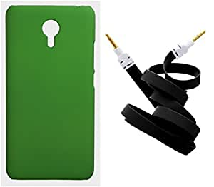 Toppings Hard Case Cover With Aux Cable For Meizu M2 Note - Green