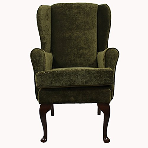 "Orthopedic High Seat Chair in Green Chenille 21"", 19"" or 17""Seat Heights (19"" Seat Height)"