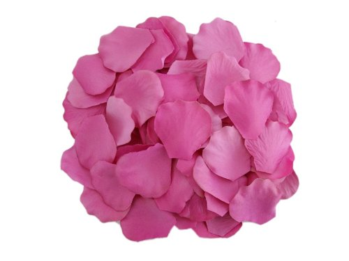 2000 Silk Rose Petals Wedding Decorations Bulk Supplies - Fuchsia