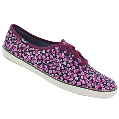 Keds Women's Champion Ditsy Floral Canvas CVO Fashion Sneaker Pea Floral 10 M US