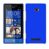 Ownstyle4you Protective Hard Case Cover for HTC Windows Phone 8S incl. Screenguard blue