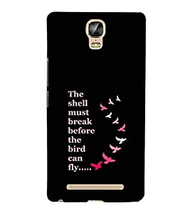 EPICCASE Bird can Fly Mobile Back Case Cover For Gionee Marathon M5 Plus (Designer Case)