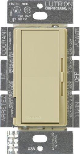 Lutron Dvf-103P-Iv Diva 1000-Watt 3-Way 3-Wire Fluorescent Dimmer, Ivory