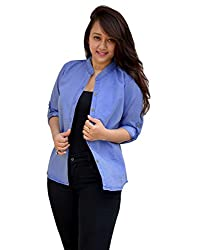 Aarti Collections Stylish Full Sleeves Light Blue Womens Denim Shirt