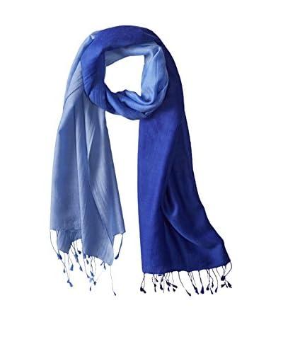 Saachi Women's Cashmere Ombre Scarf, Royal Blue Ombre