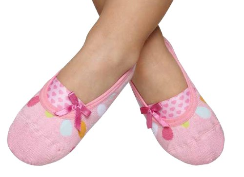 Cheap Puket Kids Girl Booties, Pink and Polka Dot (Kids-Pink & Polka Dot)