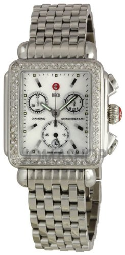 NEW MICHELE DECO DIAMOND STAINLESS STEEL WATCH MWW06A000028