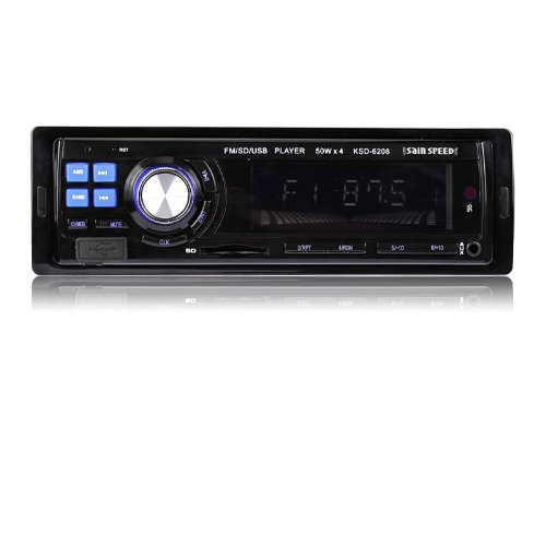 SainSpeed Car Audio Stereo In-Dash MP3 Player Radio FM USB SD AUX Single Din MP3 Player