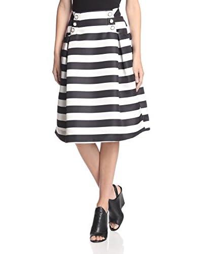 Gracia Women's Stripe Midi Skirt
