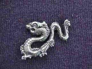 Tibetan Dragon Pin - Pewter
