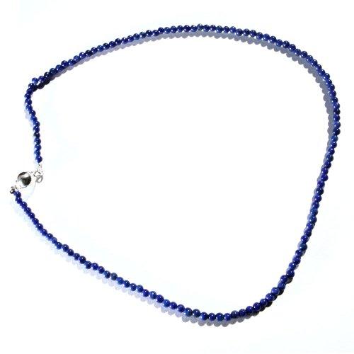 16 Inch Lapis Stone Strand Necklace