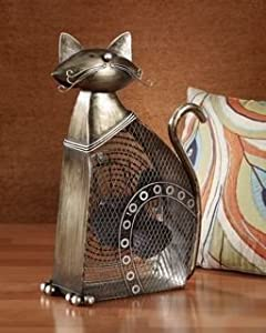 Deco Breeze Dbf0358 Cat Figurine Table Top Fan