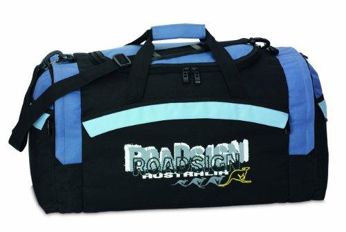 Roadsign Reisetasche, schwarz/taubenblau, 60x