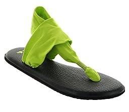 Sanuk Women\'s W Yoga Sling 2 Flip Flop, Citron, 6 M US