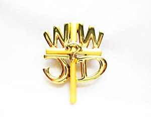 Danecraft Gold-Plated Christian What Would Jesus Do WWJD Church Sunday School Pin Brooch