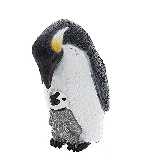 Schleich Emperor Penguin with Chick Toy Figure