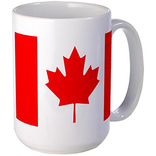 CafePress - Canadian Flag Large Mug - Coffee Mug, Large 15 oz. White Coffee Cup (Canadian Coffee compare prices)