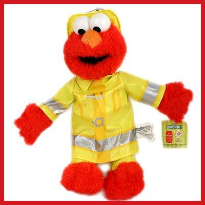 Fireman Elmo Plush - 1