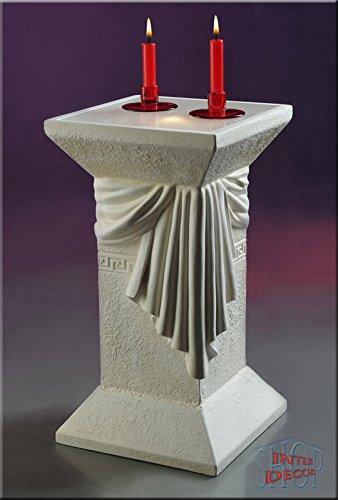 Lampe Säule Stehlampe Blumensäule Dekosäule Medusa Designer Säule mit Licht