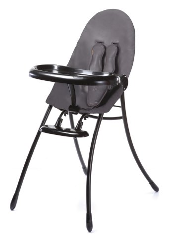 Bloom Nano Urban Highchair - Black Frame & Snake Skin Grey Seat - 1
