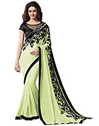 Offo Deals Partywear Traditional Eco Green Women Saree ss-1807d