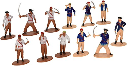US Toy Pirate Toy Figures (Set of 12), Assorted