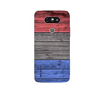 RICKYY _G5_1058 Printed Matte designer Blue Brown amp Red Wood case for LG G5