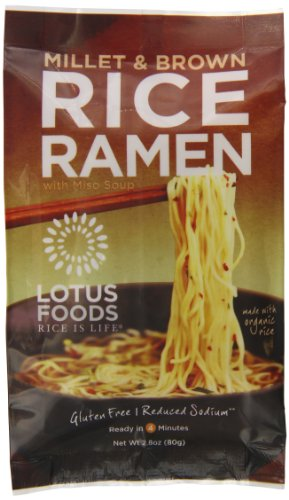 Lotus Foods Rice Ramen Noodles, Millet and Brown Rice with Miso Soup, 10 Count (Asian Spaghetti Sauce compare prices)