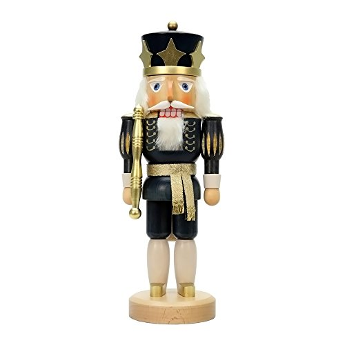 "32-543 – Christian Ulbricht Nutcracker – Blue King Glazed – 15″""H x 5.5″""W x 4.5″""D"