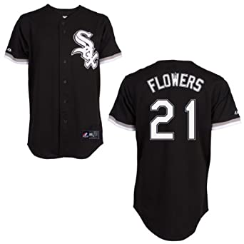 Tyler Flowers Jersey: Chicago White Sox Adult Alternate Black #21 by Majestic
