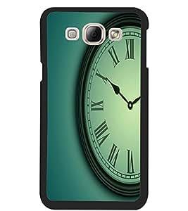 ColourCraft Clock Design Back Case Cover for SAMSUNG GALAXY A8