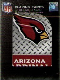 NFL Arizona Cardinals Diamond Plate Playing Cards by PSG