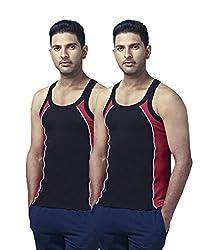 Ranjit Rocky Sports Vest (Pack of 2) (RS05L_Multicolor_90)