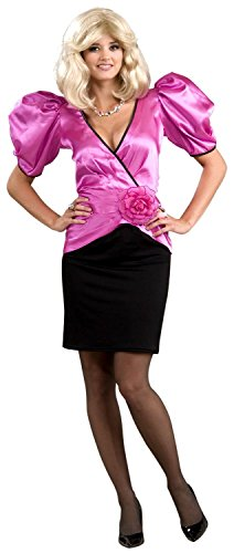 80's Soap Star Dynasty Puffed Sleeves Costume