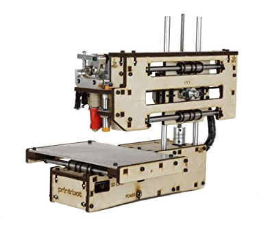 "Printrbot Simple Maker's Kit Model 1405 3D Printer, 4"" x 4"" x 4"" Maximum Build Dimensions, 100 Micron Maximum Resolution, 1.75-mm PLA Filament"