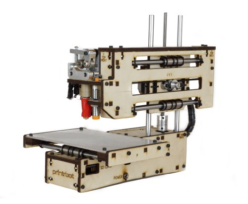 "Printrbot Simple Maker's Kit Model 1405 3D Printer, 4"" x 4"" x 4"" Maximum Build Dimensions, 100 Micron Maximum Resolution, 1.75-mm PLA Filament"