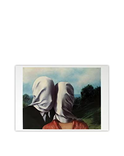 Rene Magritte The Lovers 2013 Unframed Poster, Multi