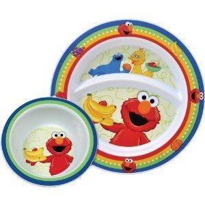 Munchkin Sesame Street Toddler Plate & Bowl 15162 - 1