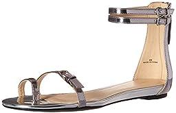 Nine West Women\'s Onque Synthetic Dress Sandal, Silver, 6 M US