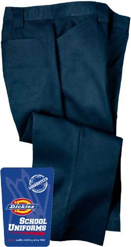 Dickies Youth/Girl's SchoolWear Flat Front Capri (Junior Sized) Size:0 Color:Dark Navy