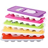 1 X ICE CUBE TRAY WITH LID AND EASY TO POUR SECTION SO NO MORE SPILLING