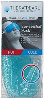 TheraPearl Eye-ssential Mask, Reusable Hot Cold Therapy Eye Mask with Gel Beads