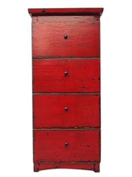China elegante halbhohe–Cómoda armario rotbraunes Madera de pino