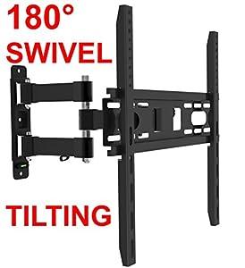husky mounts 32 55 inch full motion tv wall mount articulating tilt swivel corner. Black Bedroom Furniture Sets. Home Design Ideas