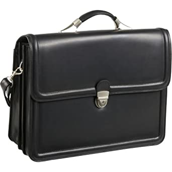 AmeriLeather APC Savvy Leather Executive Briefcase (Black)